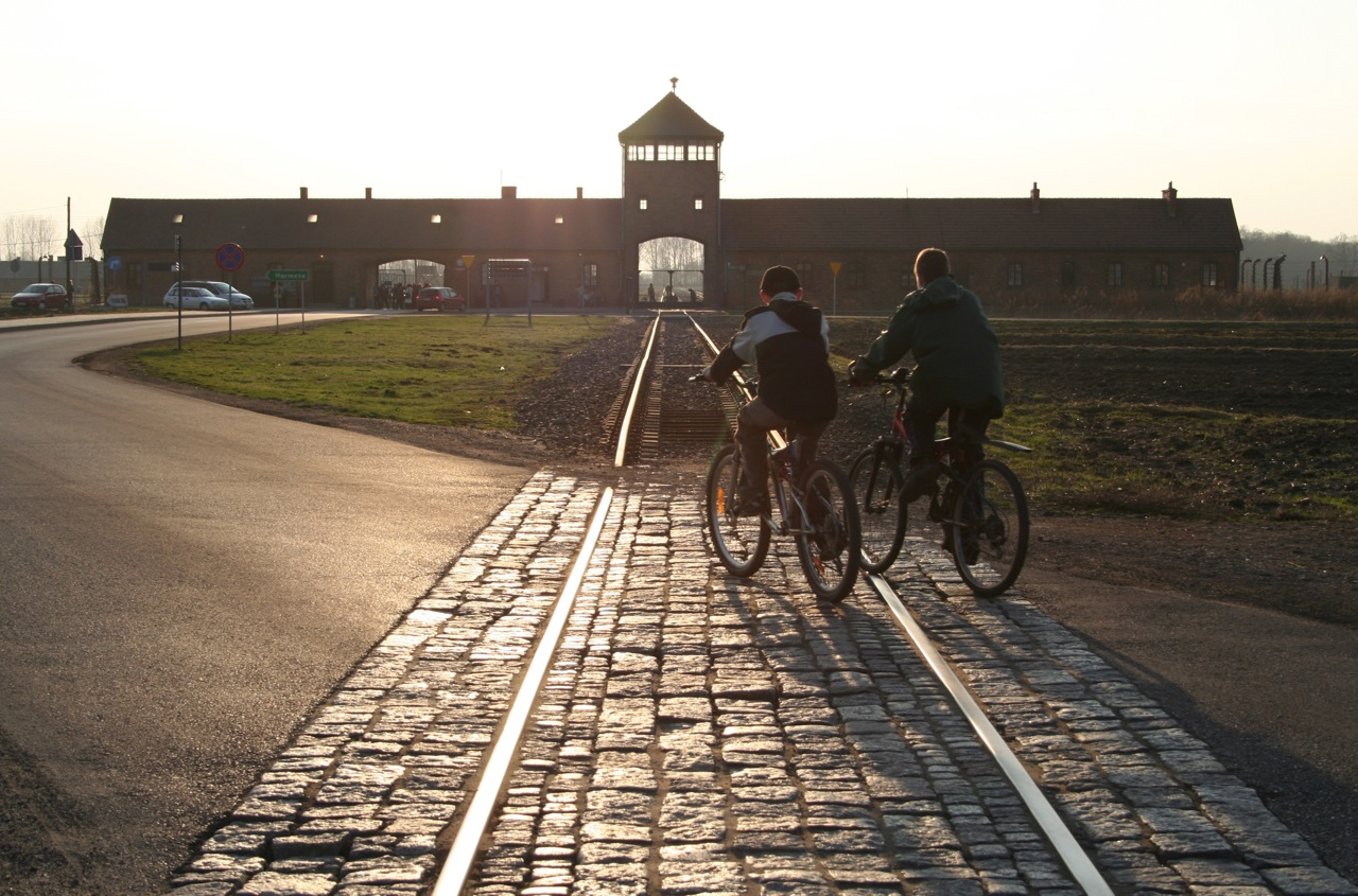 Photograph taken at Auschwitz - courtesy Denise Neild